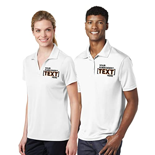 Add Your Text Custom Embroidered Shirts for Men /& Women Personalized Embroidery Polyester Polos