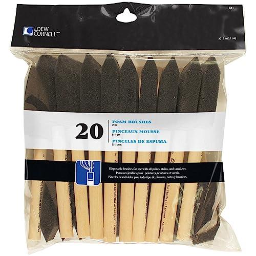 Loew-Cornell 842 25-Piece Foam Brush Set 1-Inch