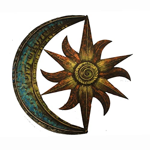Crafia Celestial Themed Metal Wall Decor Hand Painted Metal Wall Art Moon Star Shape Iron Showpiece Metal Wall Decor Ideas Buy Products Online With Ubuy Kuwait In Affordable Prices B07g4bsght