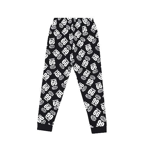 Emote Legend Dance Gaming Black Gold Cotton Long Pyjamas