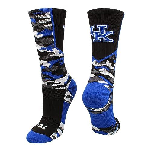 TCK Kansas Jayhawks Digital Camo Crew Socks