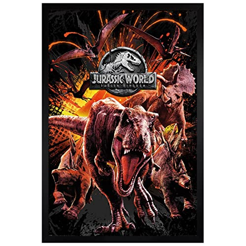 A1 High Sea Wave Dinosaur Surfing Poster Art Print 60 x 90cm 180gsm Gift #13154