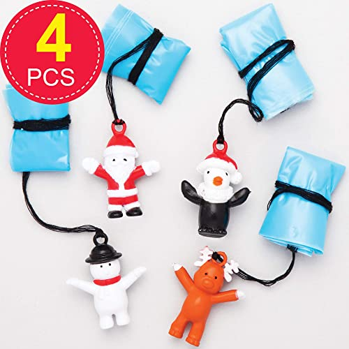 Xmas Fun Mini Reindeer Paddle Bat Ball Game Party Bag Stocking Filler Gift Toy