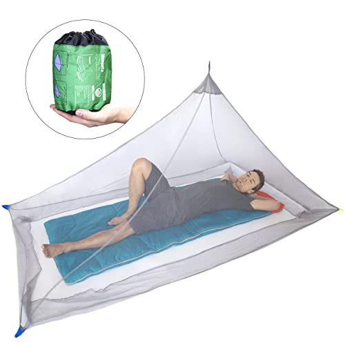 KRATARC Mosquito Netting Canopy Net Mesh for Single Bed Compact and Lightweight Camping Hiking Climbing Outdoor