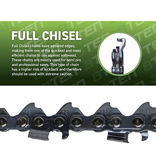 """5-Pack 20/"""" Full Chisel Saw Chain For STIHL MS362 Chainsaws 20 Inch, 3//8/"""" Pitch,"""