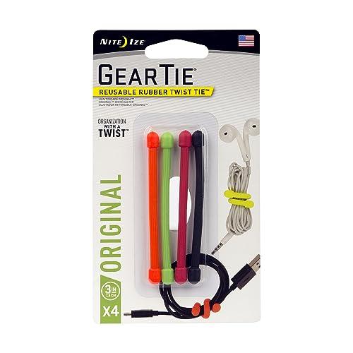 """Nite Ize Tough Rubber Gear Tie Pack Pro 18/"""" pouces assorties Pack de 6 gtpp 18-A1-R8"""