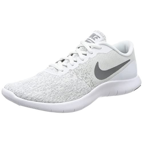 899898df61a41 Buy Nike Womens Flex Contact Running Shoe, White/Cool Grey, 6.5 with ...
