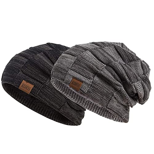 National Flag Zealand Hat for Men and Women Winter Warm Hats Knit Slouchy Thick Skull Cap