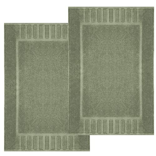 Sage Utopia Towels Luxury Hotel-Spa Tub-Shower Bath Mat Floor Mat 2 Pack