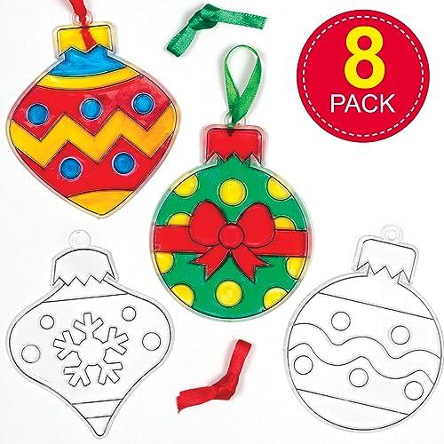 Foam Elf Ornament Craft Kit for Christmas Christmas 12 Pieces Fun Express Craft Kits Ornament Craft Kits