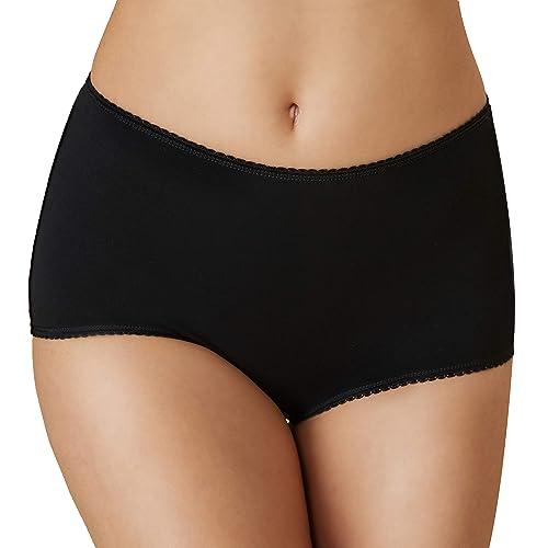 XL UK 20-22 3 Pack Ladies Black Cotton Rich Mama Briefs Comfortable Underwear