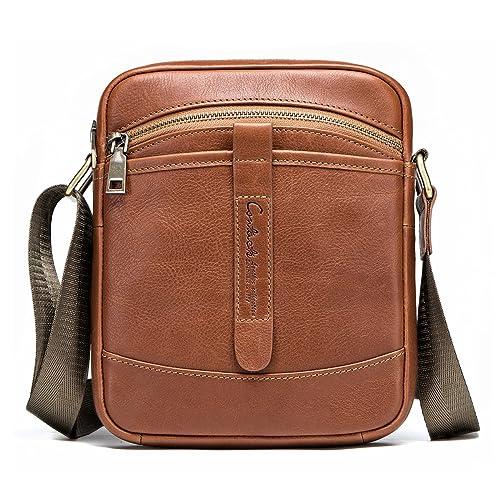 3ff865eb93d4 Buy Contacts Genuine Leather Mens iPad Mini Tab Messenger CrossBody ...