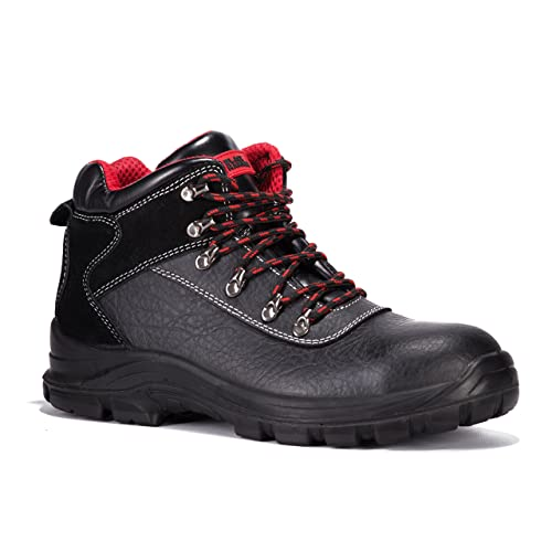 213772f3d Black Hammer Mens Leather Safety Waterproof Boots S3 SRC Steel Toe Cap Work  Shoes Ankle Leather