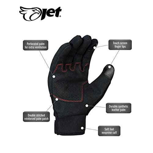JET Motorcycle Motorbike Gloves Summer Vented Hard Knuckle Touch Screen Gloves Men ATV Riding ECCO Large, Camo grey