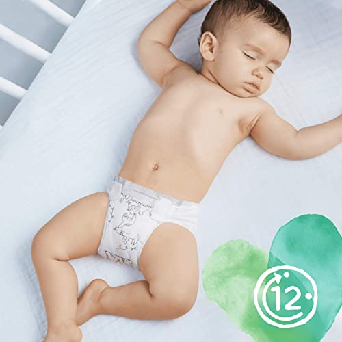 Made with Materials Containing Premium Cotton and Plant-Based Fibres 102 Nappies 2-5 kg Saving Pack Pampers Pure Protection Size 1