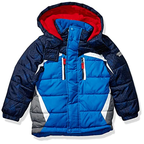 London Fog Boys Toddler Active Puffer Jacket Winter Coat Super Blue 2T