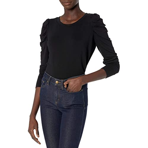 Brand Daily Ritual Womens Supersoft Terry Pleated-Sleeve Sweatshirt