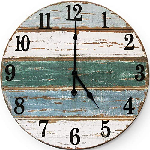 Buy Wallcharmers 18 Inch Beach Clock Handmade Cedar Wood Beach Wall Clock Great Ocean Clock On Lake Time Clock Coastal Wall Clock Beach Theme Clock Tropical Clock Beach Wall Clocks