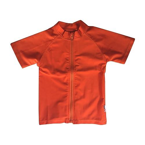 SwimZip Kids Long Sleeve Zipper Rash Guard UPF 50+ Multiple Colors