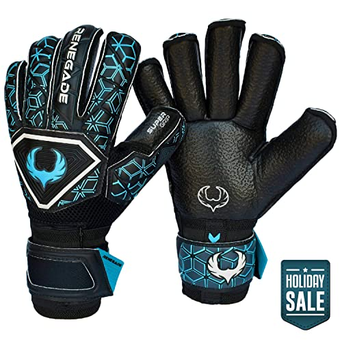 KELME Soccer Goalkeeper Gloves Training and Professional Goalie Gloves for Adults and Kids with Finger Protection Indoor and Outdoor