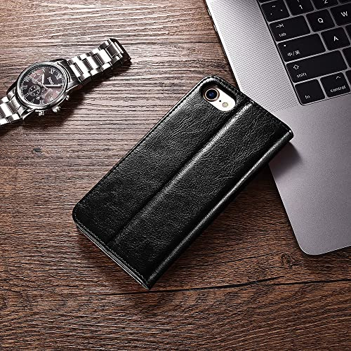 iPhone 7//8 Wallet Case Brown ICARERCASE Premium PU Leather Folio Flip Cover with Kickstand and Credit Slots for Apple iPhone 7//8 4.7 Inch