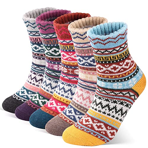 5 PAIRS MULTICOLOUR MENS THERMAL WORK SOCKS EXTRA COMFORT,WARM /& THICK