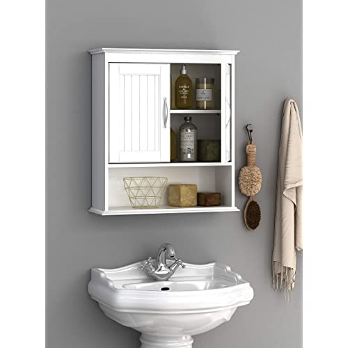 Buy Spirich Home Bathroom Cabinet Wall Mounted With Doors Wood Hanging Cabinet Wall Cabinets With Doors And Shelves Over The Toilet Bathroom Wall Cabinet White Online In Kuwait B07s2zg4xl