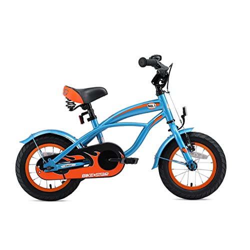 BIKESTAR Premium Safety Sport Kids Bike Bicycle with sidestand and accessories for Kids age 3 year old children 12 Inch Classic Edition for boys and girls