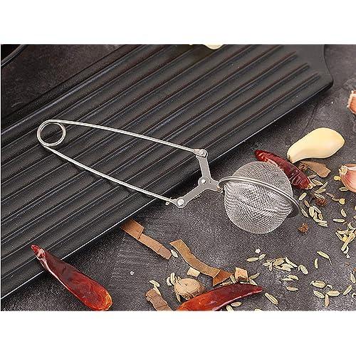 SunTrade 3 Pack Handle Stainless Steel Mesh Snap Ball Loose Leaf Tea Infuser Strainer Secure Locking