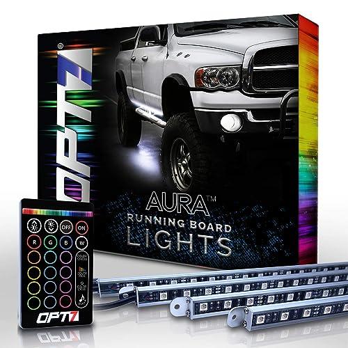 Buy OPT7 Aura LED Running Board Lights - Nerf Light Side Bar ... Opt Light Bar Wiring Harness on