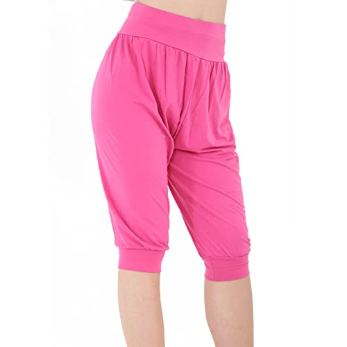Womens Ladies 3//4 Harem Hareem Pants Baggy Short Cropped Ali Baba Trousers