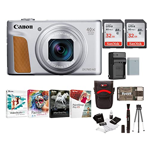Canon Powershot Sx740 Hs Digital Camera Black Total Of 64gb Card 2 X 32 Battery And Charger Accessory Kit Buy Products Online With Ubuy Kuwait In Affordable Prices B07jmvdhhv
