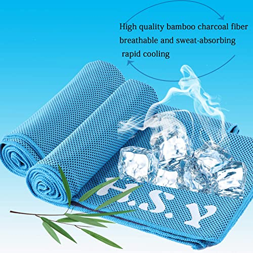 Gomake All in one ice cold sweat towel,120 x 30 cm double sided soft polyester