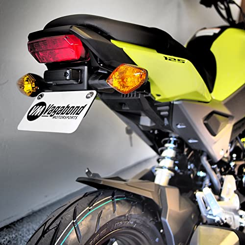 motorcycle fit for VM-HG710 and aftermarket blinkers. Motorsports Fender Eliminator license plate mount Compatible with the Honda Grom//MSX125 2017