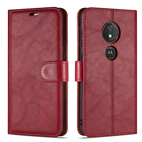 TANYO Case Suitable for Motorola Moto G8 Power Stylish Leather Full-Cover Phone Case Gray 3 Card Slot Magnetic Closure and Flip Stand Wallet Case