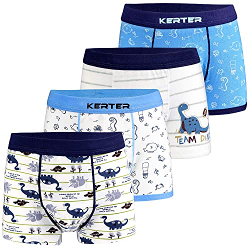 Auranso Boys Boxer Shorts Cotton Toddler Boy Trunk Underwear 5 Pack Kids Assorted Color Underpants 2-12 Years