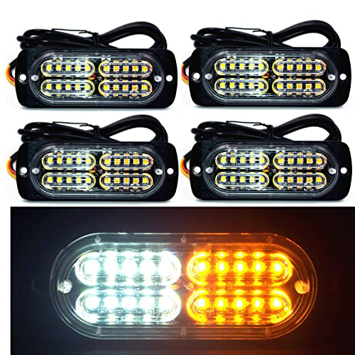 8x Waterproof 12LED Car Emergency Beacon Warning Hazard Flash Strobe Light Bar