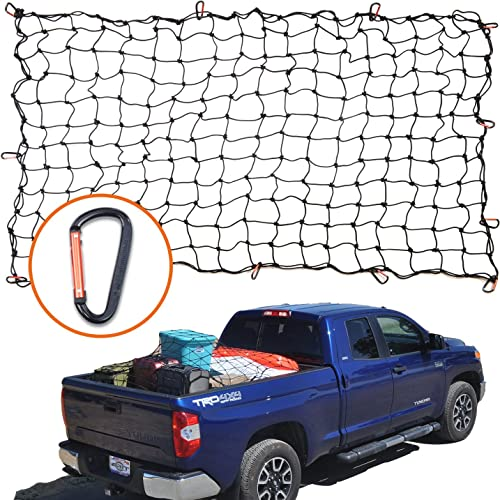 4 X6 Super Duty Bungee Cargo Net For Truck Bed Stretches To 8 X12