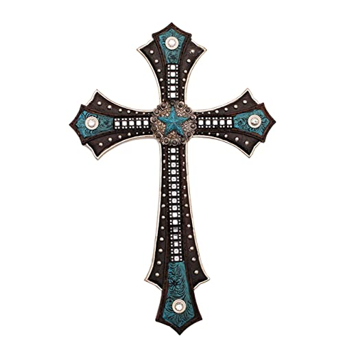 Buy Youkood 15 Decorative Wall Crosses Hanging Resin Hanging Wall Cross Wedding Crosses To Hang On Wall Decorative Family Crosses Wall Decor Blue Pentagon Online In Kuwait B07yw75dtd