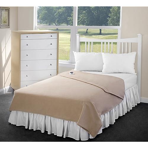 SoftHeat Perfect Fit Luxury Fleece Electric Heated King Size Warm Soft Blanket