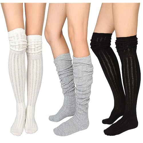 Vitsocks MERINO WOOL Socks Women Long Knee High Warm for Winter Weather Best Quality