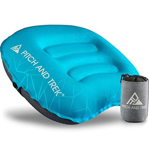 Inflatable Pillow For Camping Travel Hiking Backpacking Fishing Hunting Beach UK