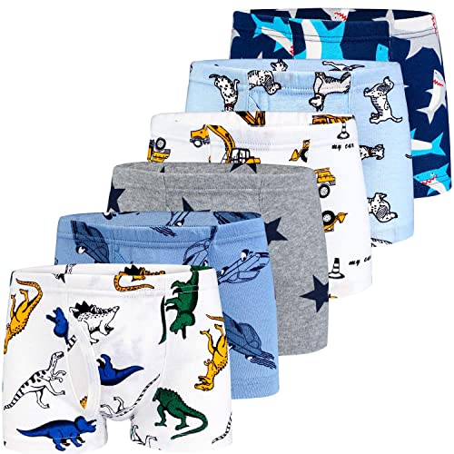 BOOPH Little Boys Toddlers Cotton Underwear Briefs Car 5 Pack
