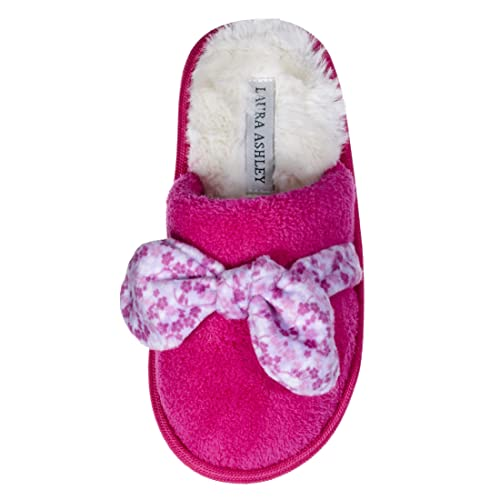 Laura Ashley Kids Girls Cat Sherpa Knitted Slippers See Colors and Sizes