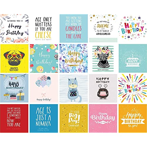 20 Birthday Cards Multipack Envelopes Plastic Free Eco Friendly Greeting Cards Hand Packed In The Uk Buy Products Online With Ubuy Kuwait In Affordable Prices B07tfbgmgj