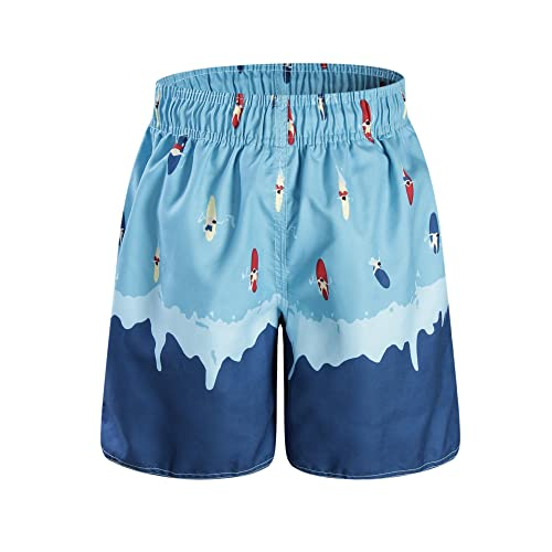 Yeahdor Kids Boys Stripe Drawstring Swim Shorts Quick Dry Beach Board Trunk Elastic Waist Swimwear Bottoms