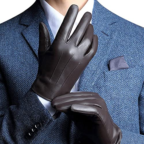 d03901234 Buy Harrms Best Touchscreen Nappa Genuine Leather Gloves for men's Texting  Driving Winter Cold Weather Gloves with Ubuy Kuwait. B01KX9BGGY