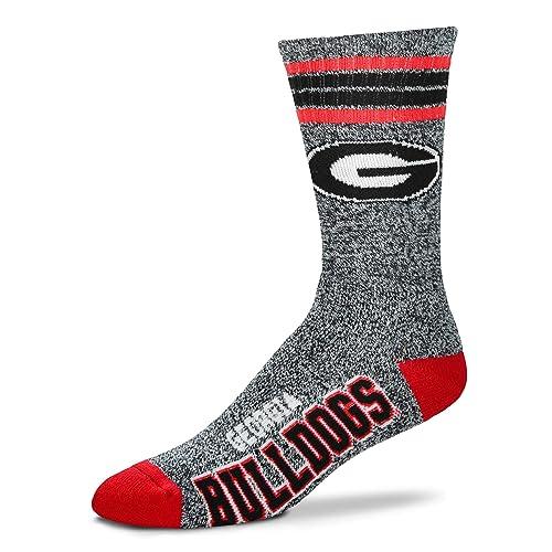 For Bare Feet Oregon Ducks 4 Stripe Deuce Socks Mens Size Large 10-13