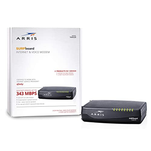 Buy ARRIS Surfboard Docsis 8X4 Cable Modem / Telephone Certified for