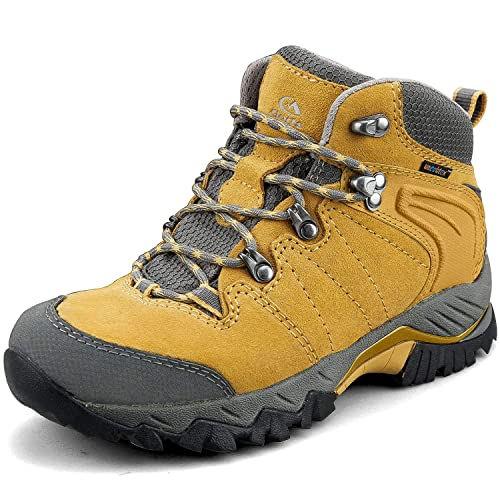 Clorts Womens Pioneer Hiking Boots Waterproof Suede Leather Lightweight Hiking Shoes
